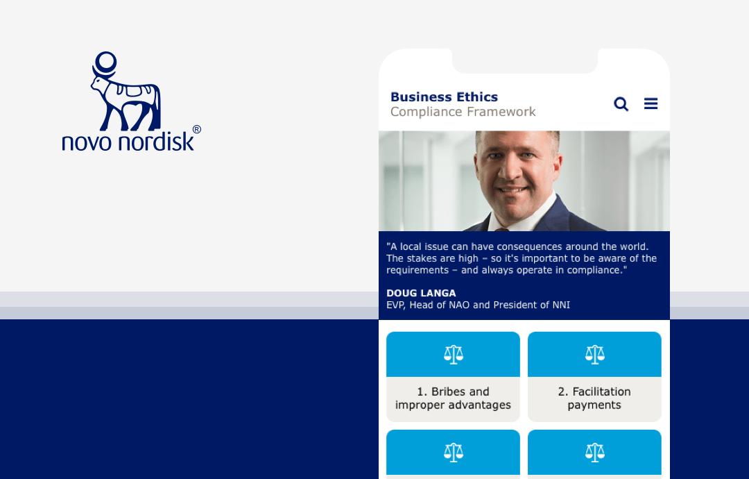Novo Nordisk Business Ethics Compliance framework