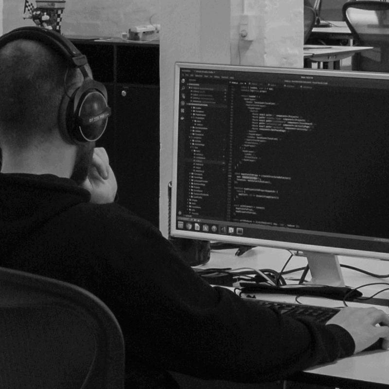 developer working